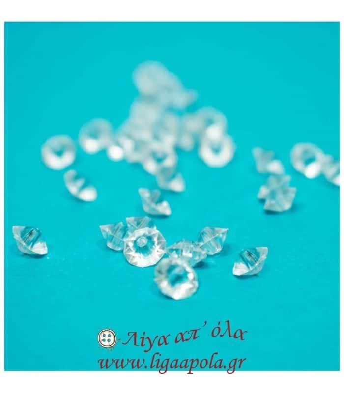 Διαμαντάκι διάφανο πλαστικό (~400τεμ) - Λίγα απ' όλα