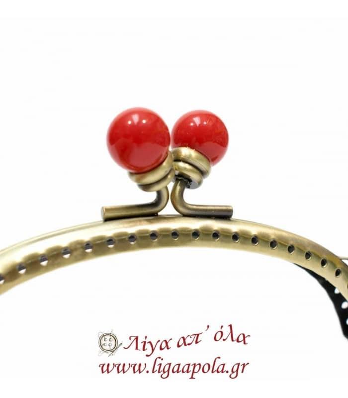 Βάση Clutch Κόκκινη Πέρλα PRYM - Λίγα απ' όλα