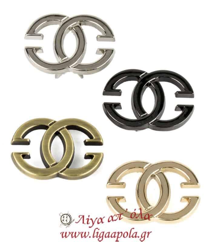 Μεταλλικό διακοσμητικό Chanel - Λίγα απ' όλα