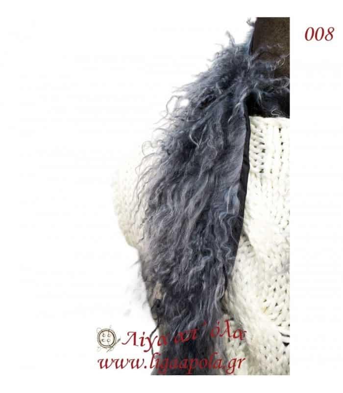 Γούνινος γιακάς Mongolian γκρί - Λίγα απ' όλα