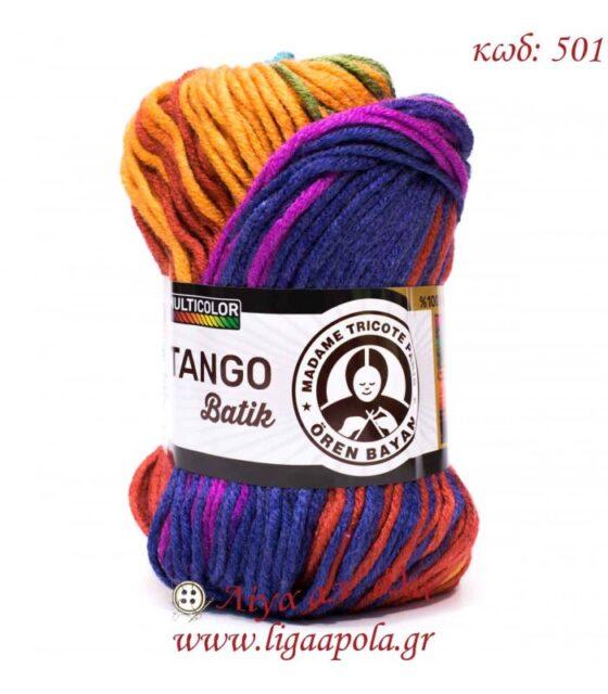 Tango Batik - Madame Tricote Paris - Λίγα απ' όλα - 501 Mωβ-Κόκκινο-Φουξ-Πράσινο πορτοκαλί-Σιελ