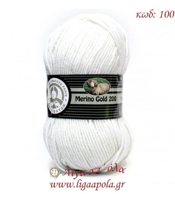 Merino Gold 200 - Madame Tricote Paris - Λίγα απ' όλα - Νο 100 Λευκό σπασμένο