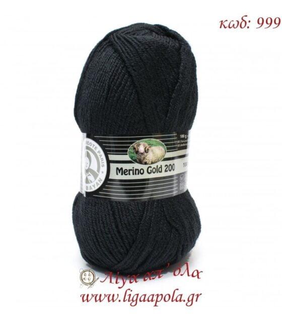 Merino Gold 200 - Madame Tricote Paris - Λίγα απ' όλα - No 999 Μαύρο