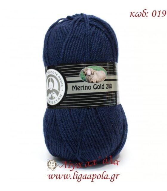 Merino Gold 200 - Madame Tricote Paris - Λίγα απ' όλα - No 019 Μπλε σκούρο