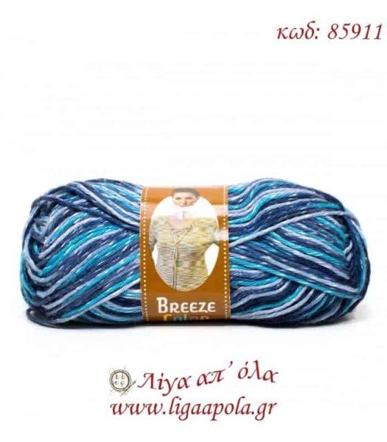 Breeze Color - Nako - Λίγα απ' όλα - Νο 85911 Γαλάζιο τυρκουάζ μπλε ρουά