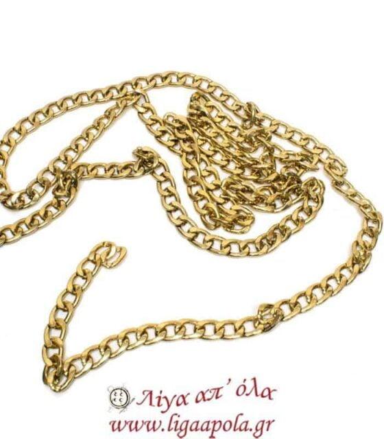 Αλυσίδα χρυσή πλακέ βαρέως τύπου - Λίγα απ'όλα
