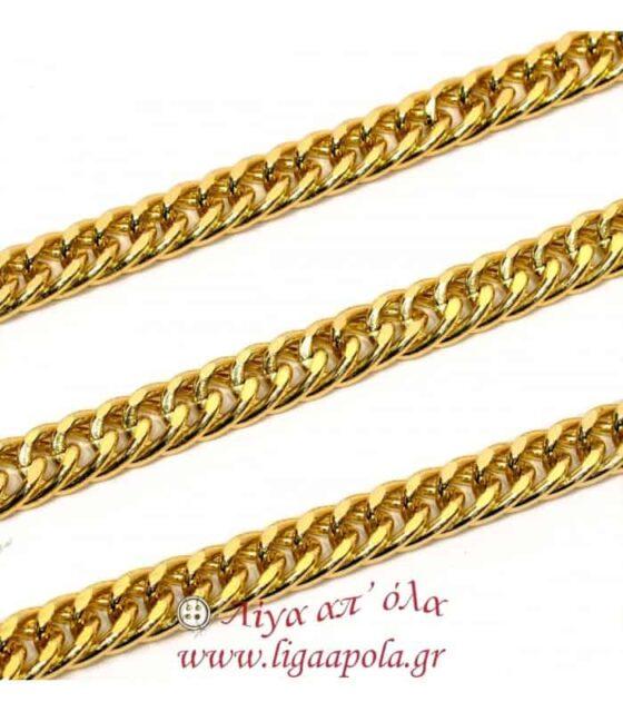 Αλυσίδα χρυσή διπλή πλακέ - Λίγα απ'όλα