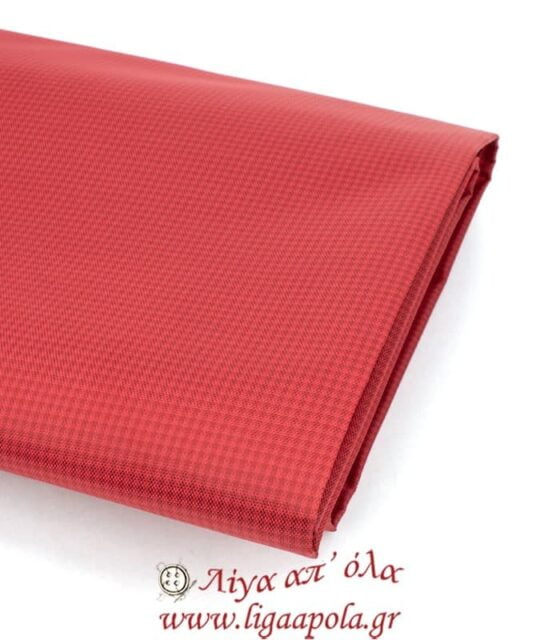 Φόδρα τσάντας κόκκινη καρό Φ1,4μ - Λίγα απ' όλα