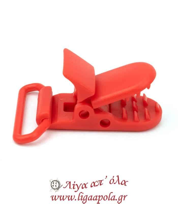 Κλιπ πλαστικό πιπίλας / τιράντας 25mm