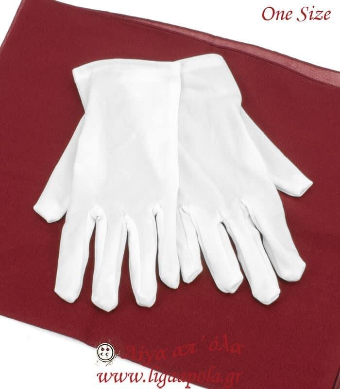 Γάντια παρέλασης λευκά Onesize