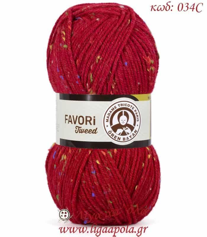 Νήμα ακρυλικό Favori Tweed - Madame Tricote Paris