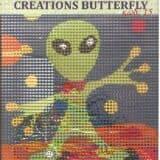 Σταμπωτό καδράκι alien 18χ18εκ - Πεταλούδα Νο15