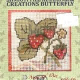 Σταμπωτό καδράκι φράουλες 10χ10εκ - Πεταλούδα Νο06