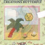 Σταμπωτό καδράκι φοίνικας 10χ10εκ - Πεταλούδα Νο10