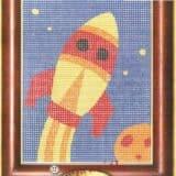 Σταμπωτό καδράκι πύραυλος 18χ14εκ - Gobelin 43300