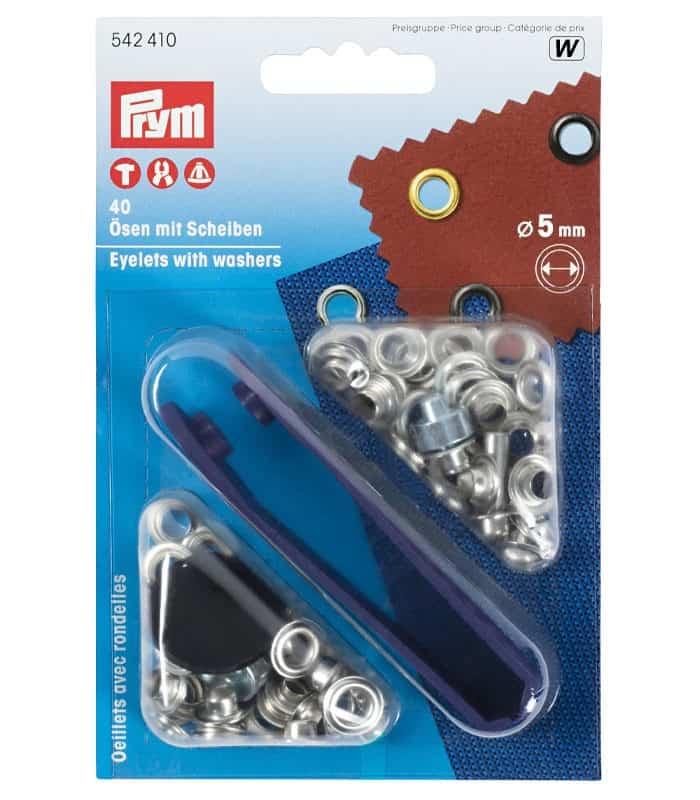 Μεταλλικές τρύπες καψούλια 5mm Prym 542410