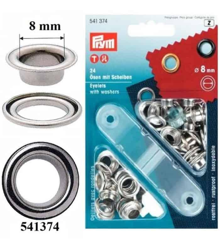 Μεταλλικές τρύπες καψούλια 8mm Prym 541374