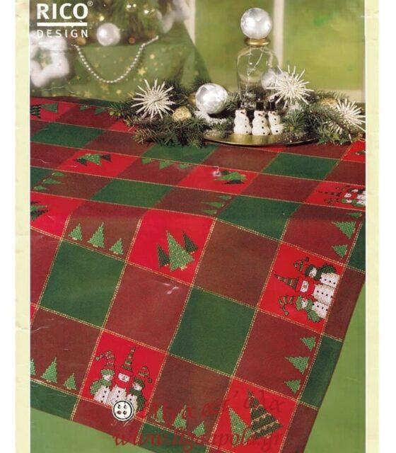 Καρέ 85x85 με χριστουγεννιάτικο μετρητό σχέδιο Rico Design 73552