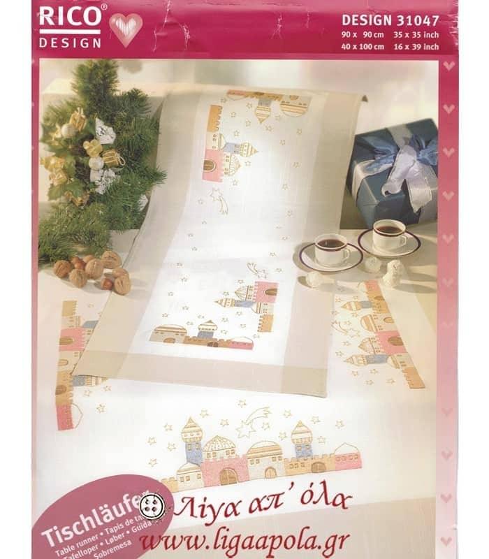 Ζωγραφισμένο χριστουγεννιάτικο runner 40x100 Rico Design 31047