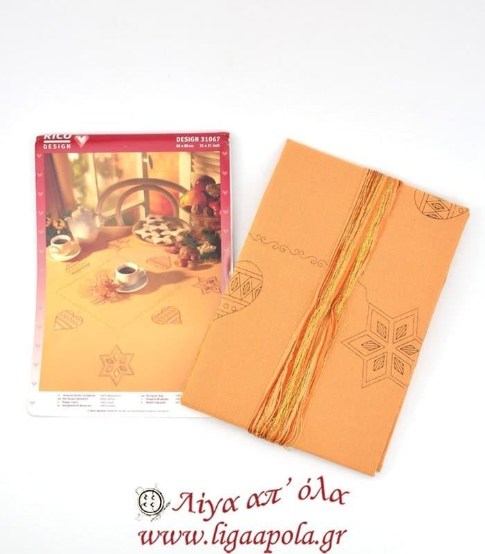 Ζωγραφισμένο χριστουγεννιάτικο καρέ 90x90 Rico Design 31067