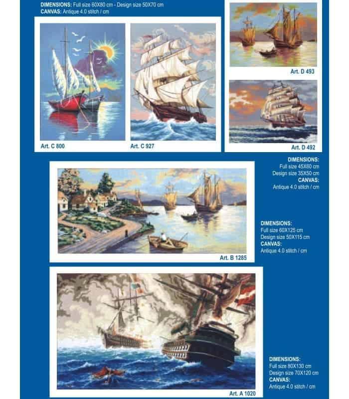 Θάλασσα - Σταμπωτά κάδρα για κέντημα - Gobelin
