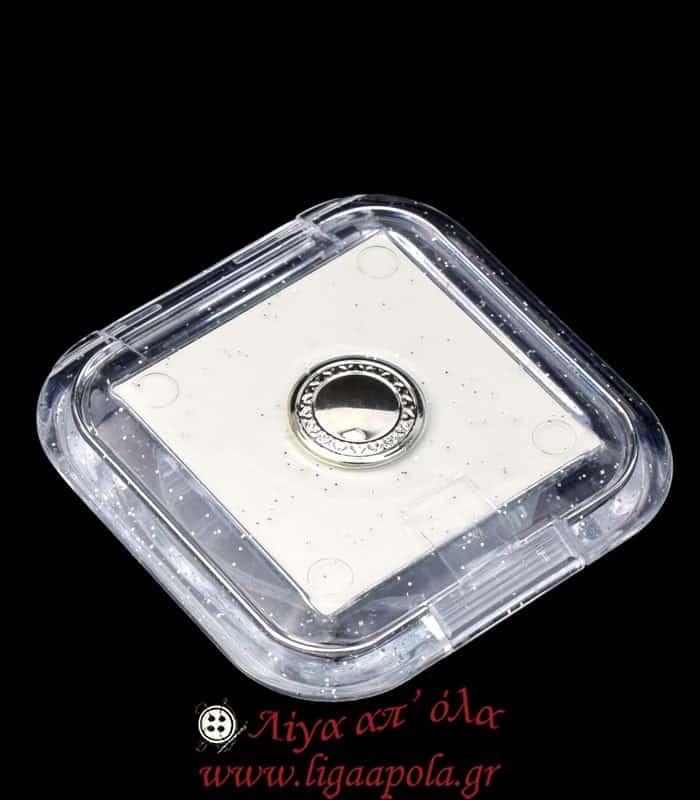 Καθρεφτάκι τσάντας / ταξιδίου μακιγιάζ τετράγωνο διάφανο
