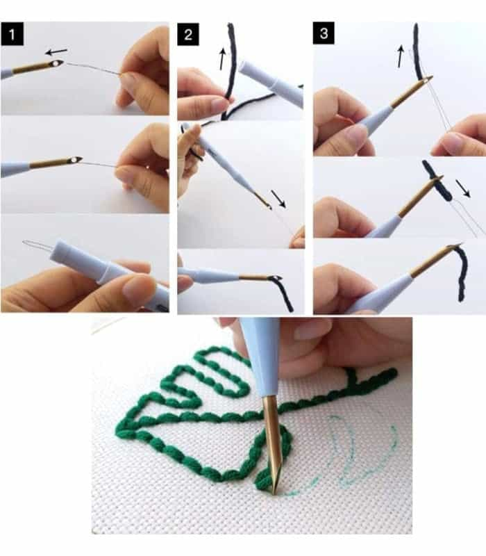 Punch needle Large αυτόματη βελόνα κεντήματος SKC PN-003