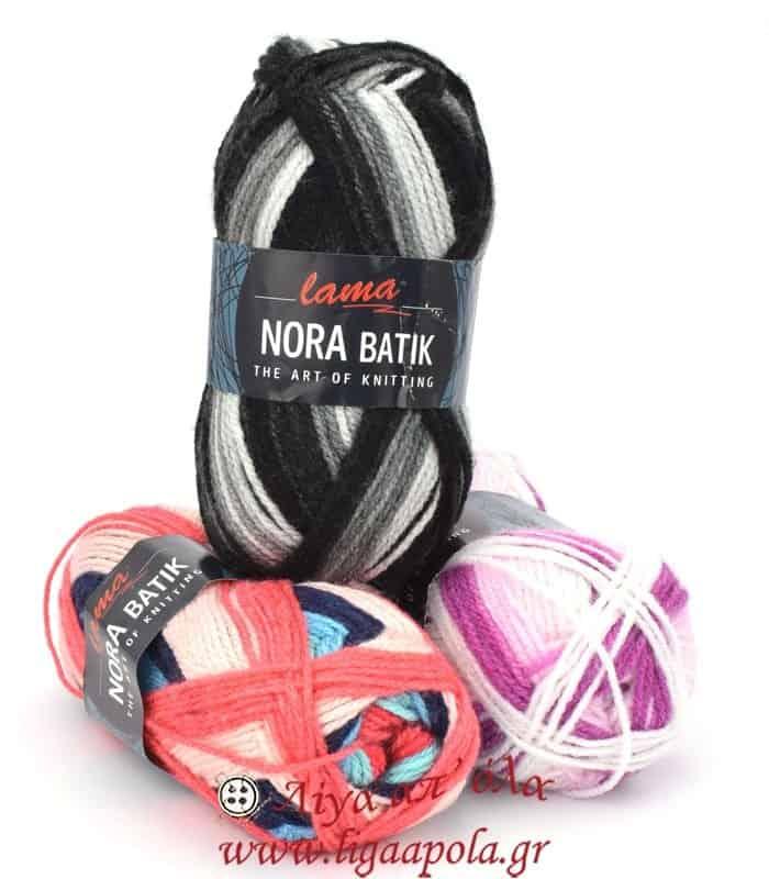 Ακρυλικό νήμα πολύχρωμο Nora Batik - Lama