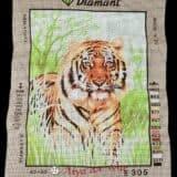 Σταμπωτό κάδρο τίγρης 40x50 - Diamant E305