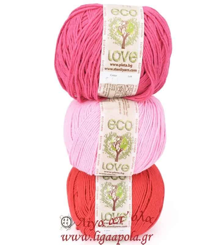 Βαμβακερό καλοκαιρινό νήμα Eco Love - Stenli