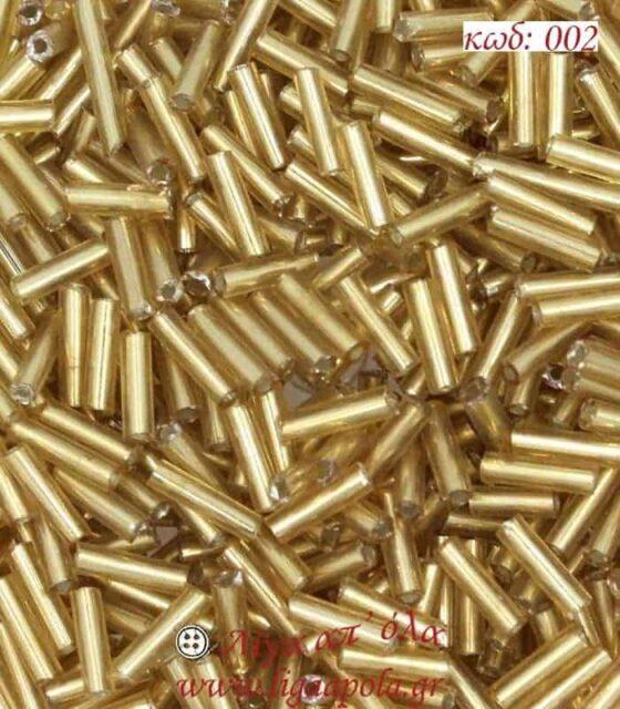 Γυάλινο χαντράκι για κέντημα ροκαι ίσιο μακαρόνι στρογγυλό 6χιλ
