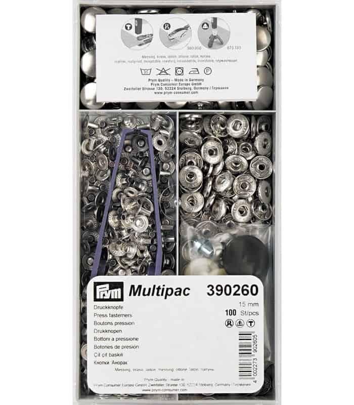 Πρεσαριστά τρουκ απλά νίκελ 15mm 100τεμ Prym 390260