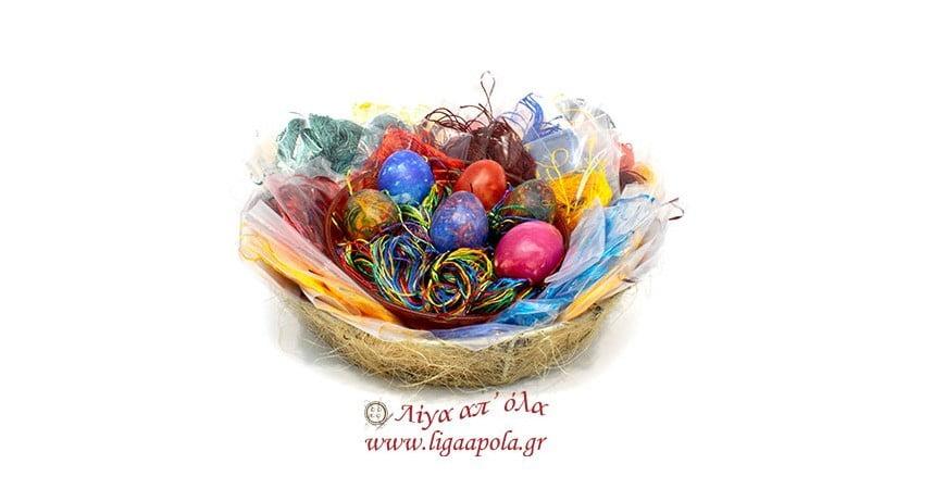 Βάψτε τα πασχαλινά σας αυγά με κλωστές ΦΛΟΣ!