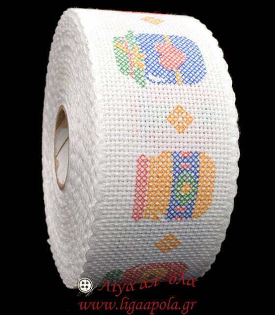 Σταμπωτή βαμβακερή φάσα για κέντημα AIDA 5εκ Βαζάκια μαρμελάδας Λίγα απ' όλα - Πλέξιμο, Ράψιμο, Κέντημα