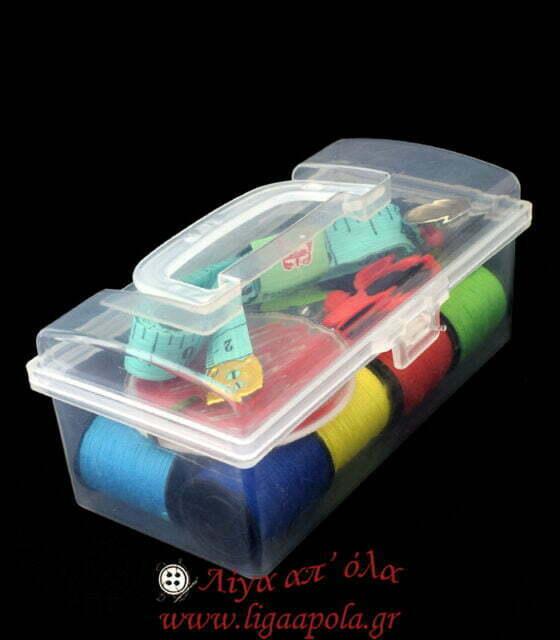 Κουτάκι σετ ραπτικής ταξιδίου Λίγα απ' όλα - Πλέξιμο, Ράψιμο, Κέντημα