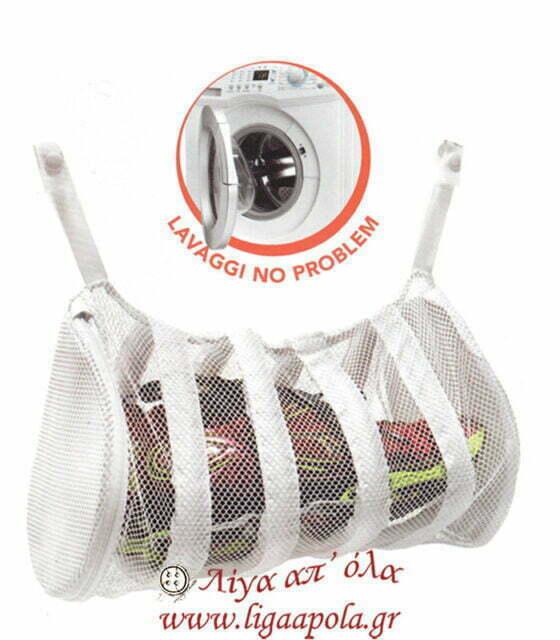 Υφασμάτινος σάκος πλυντηρίου για παπούτσια σφουγγαρίστρες - Marbet Art. 17 Λίγα απ' όλα - Πλέξιμο, Ράψιμο, Κέντημα