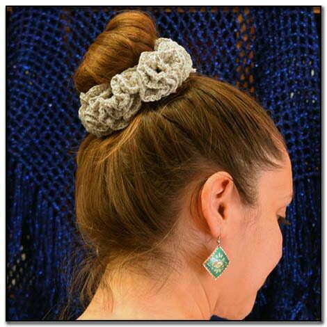 Scrunchies Πλεκτά λαστιχάκια για μαλλιά