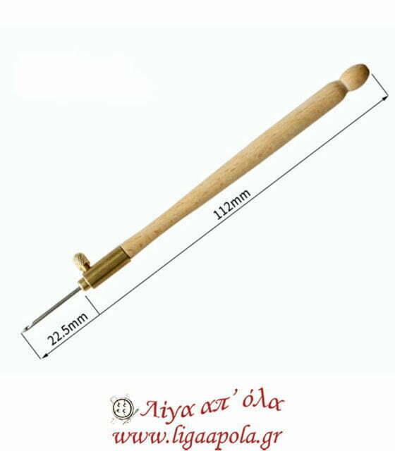 Βελονάκι πλεξίματος σετ για δαντελόνημα με ξύλινη λαβή - 3 μεγέθη 0.7 - 0.9 - 1.2mm - SKC A020 Λίγα απ' όλα - Πλέξιμο, Ράψιμο, Κέντημα