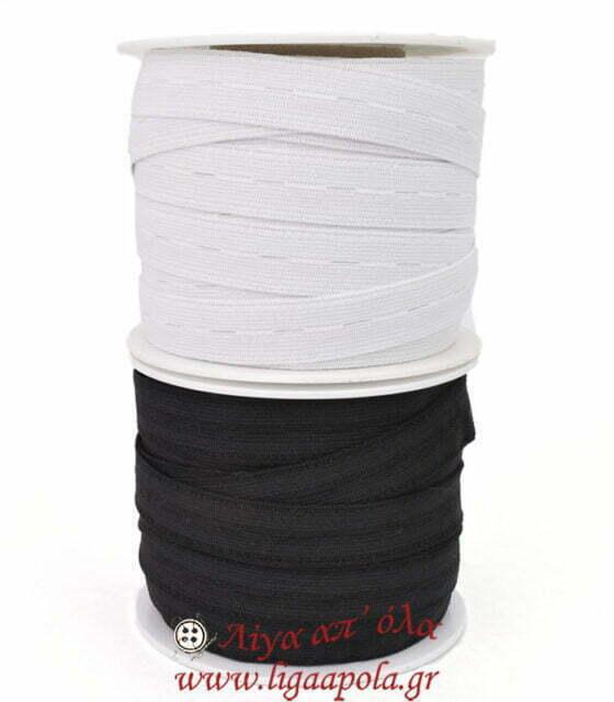 Λάστιχο με κουμπότρυπες 2 εκ μαύρο λευκό Λίγα απ' όλα - Πλέξιμο, Ράψιμο, Κέντημα